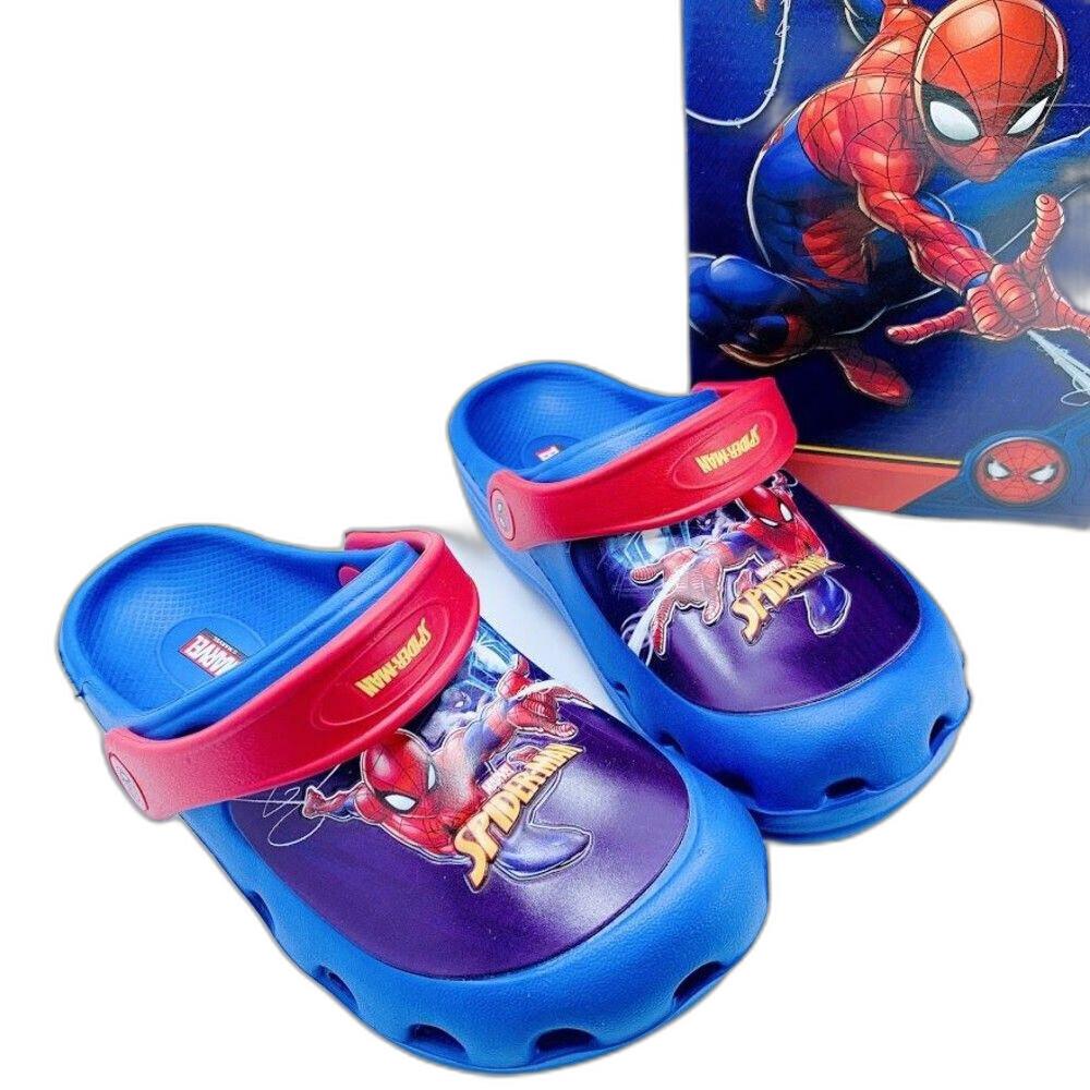童鞋 台灣製蜘蛛人布希鞋-藍色