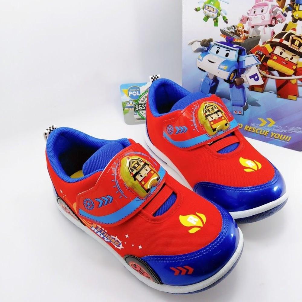 P012-【台灣製現貨】POLI羅伊造型閃燈運動鞋
