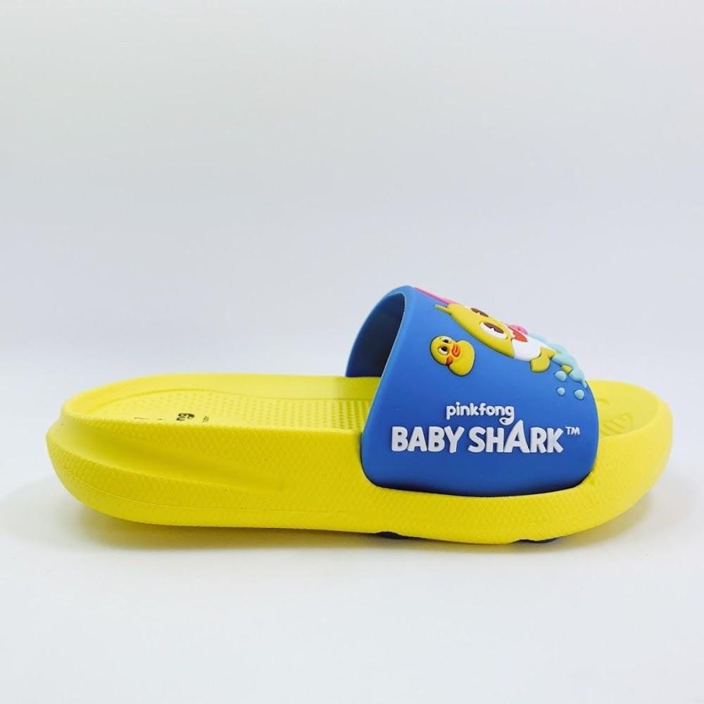 【台灣製現貨】碰碰狐鯊魚寶寶拖鞋-藍黃
