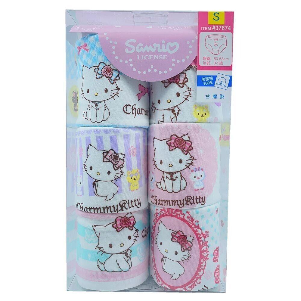 台灣製女童三角內褲(六件組)
