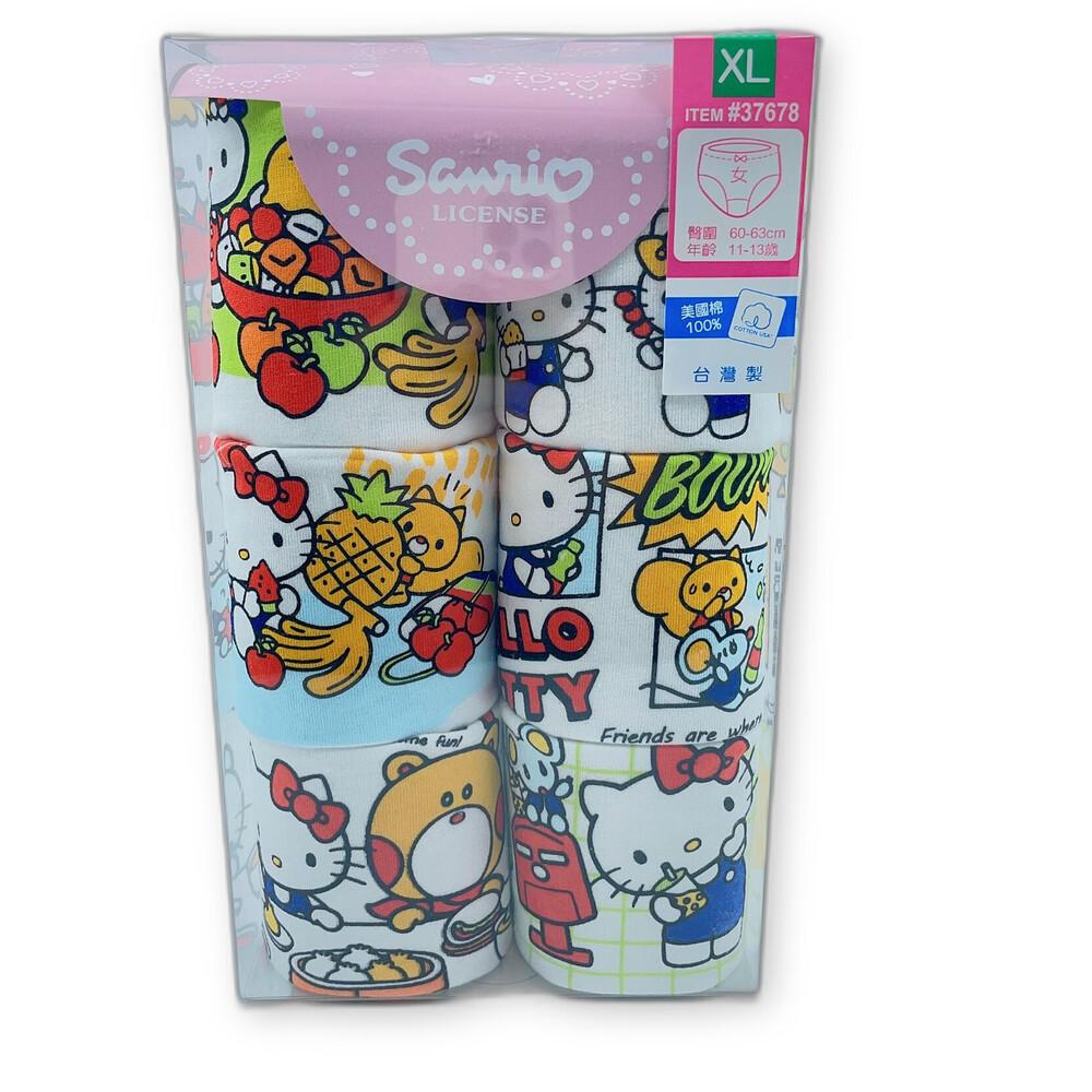 台灣製三麗鷗女童三角內褲(六件組)