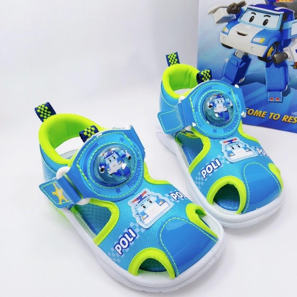 P053-1-台灣製POLI安寶電燈涼鞋-藍色