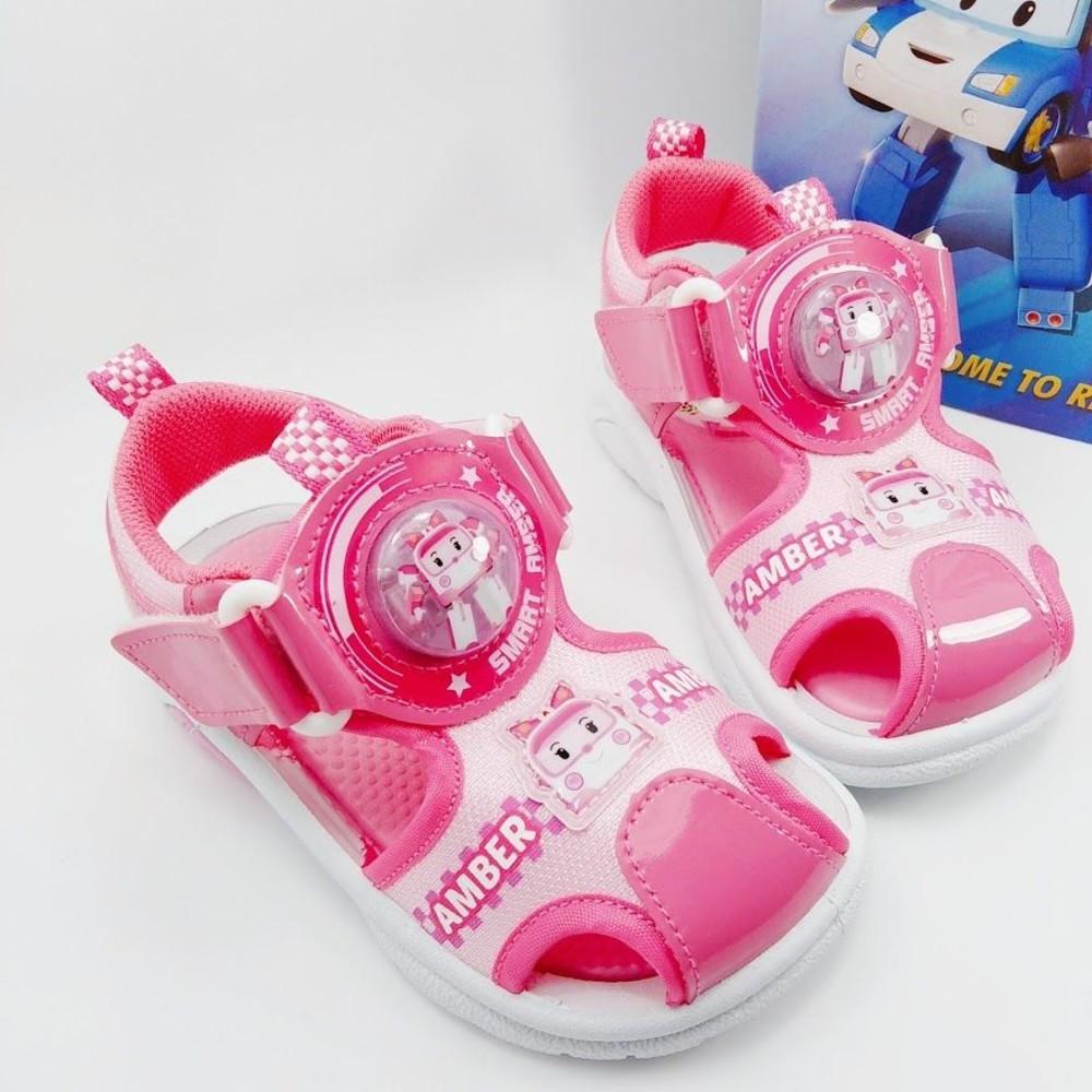 P053-台灣製POLI安寶電燈涼鞋-粉色