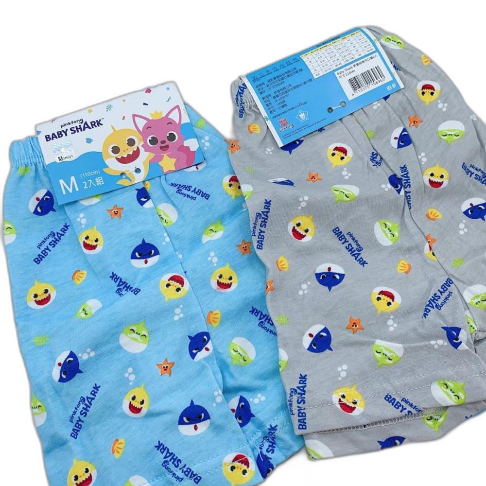 P061-4-台灣製碰碰狐鯊魚寶寶四角內褲-(4入)