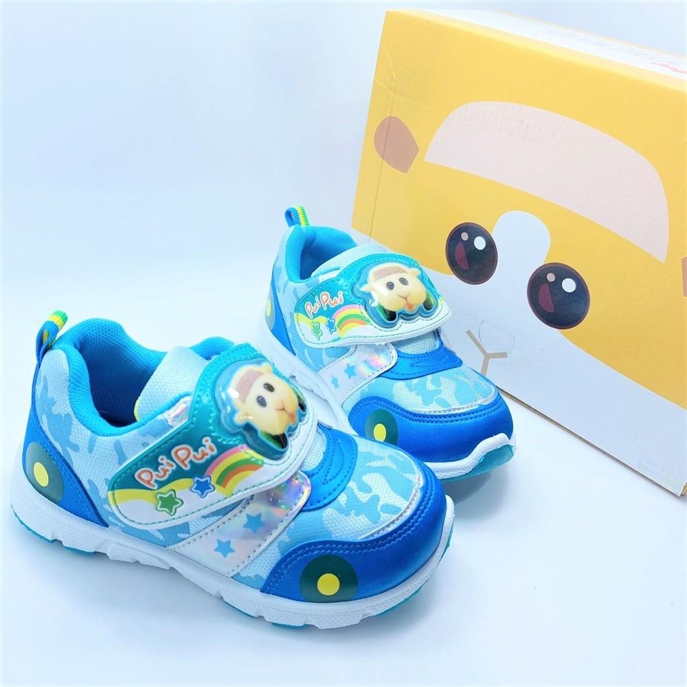 台灣製天竺鼠車車電燈運動鞋-藍色