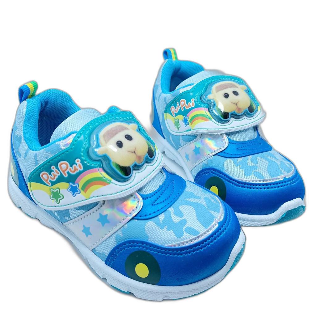 P063-1-台灣製天竺鼠車車電燈運動鞋-藍色
