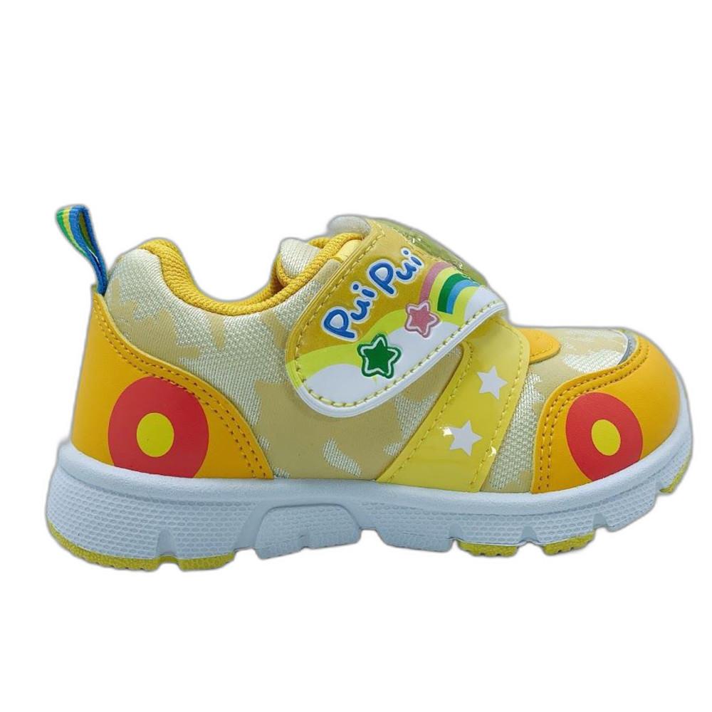 台灣製天竺鼠車車電燈運動鞋-黃色