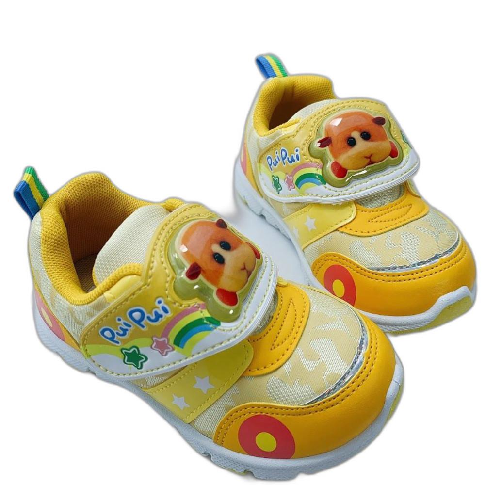 台灣製天竺鼠車車電燈運動鞋-黃色 封面照片