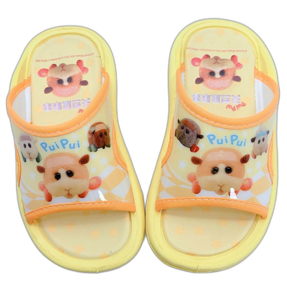 台灣製天竺鼠車車拖鞋-黃色