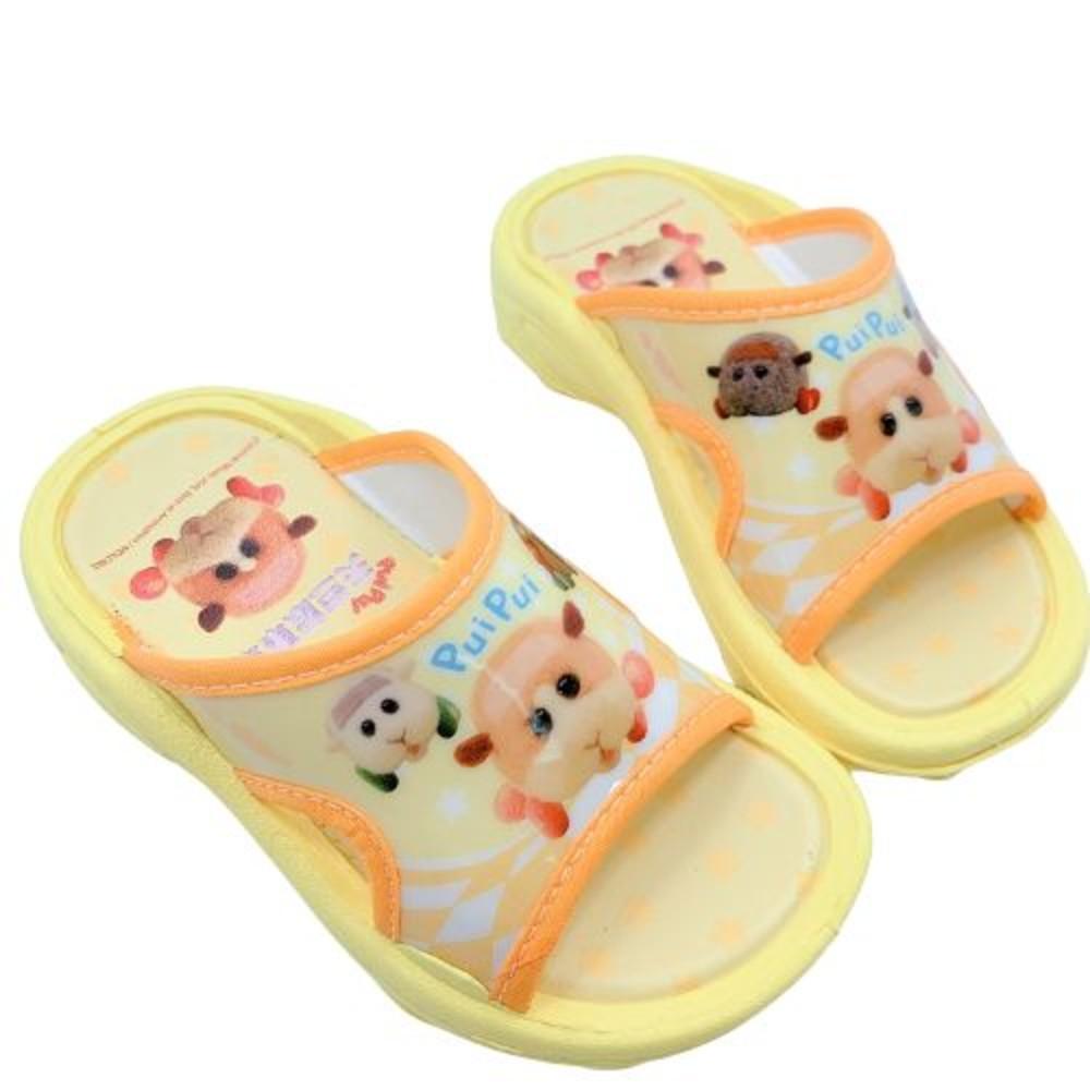 P064-1-台灣製天竺鼠車車拖鞋-黃色