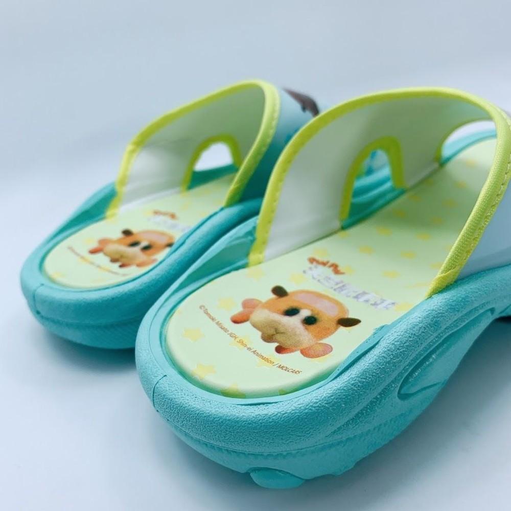 台灣製天竺鼠車車拖鞋-湖水綠