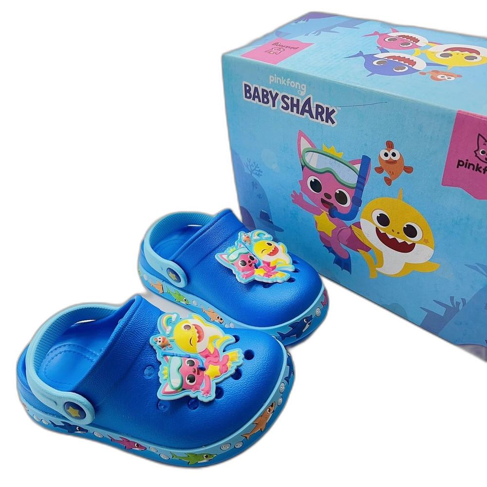 台灣製碰碰狐鯊魚寶寶布希鞋-藍色