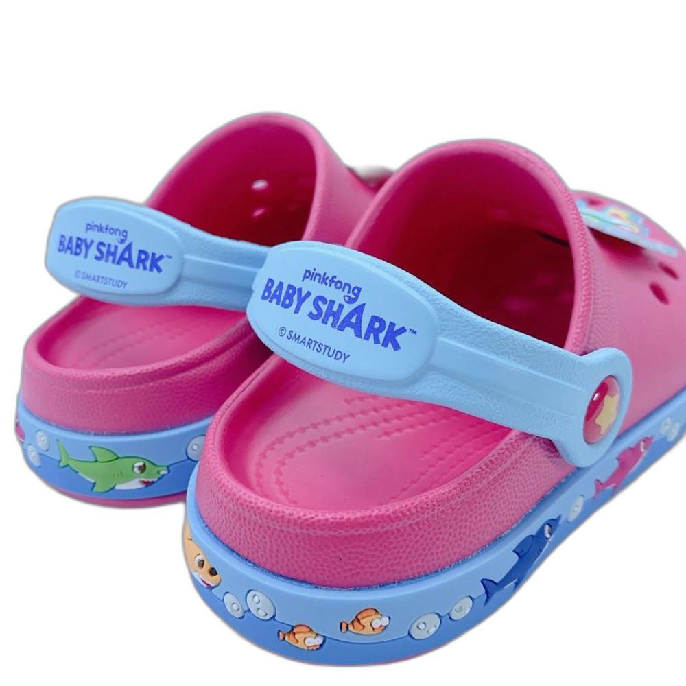 台灣製碰碰狐鯊魚寶寶布希鞋-粉紅