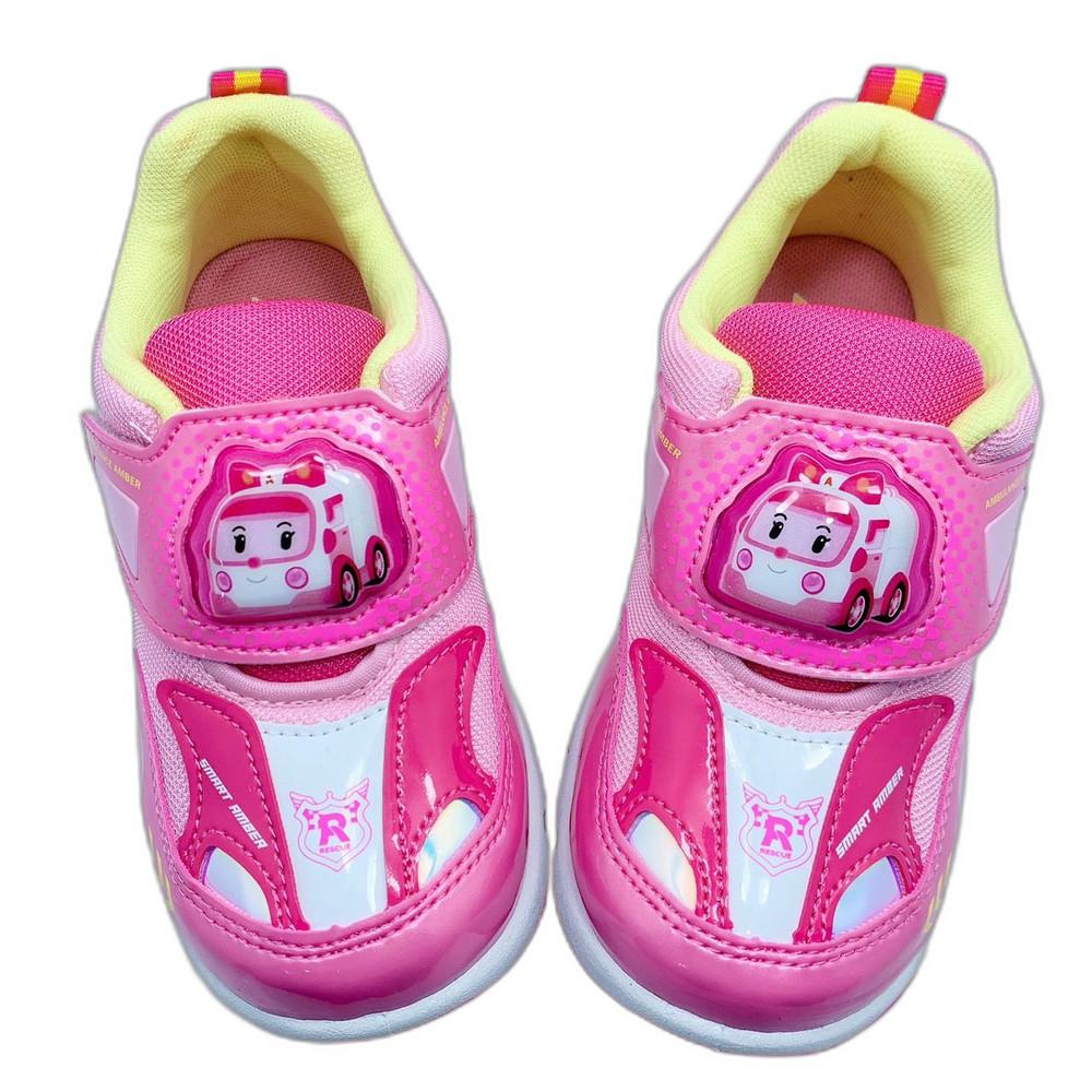 台灣製POLI電燈運動鞋-粉色安寶