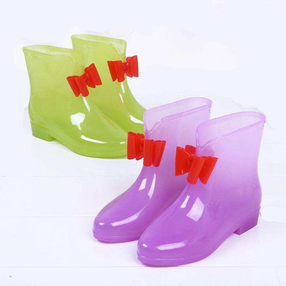 蝴蝶結果凍雨鞋