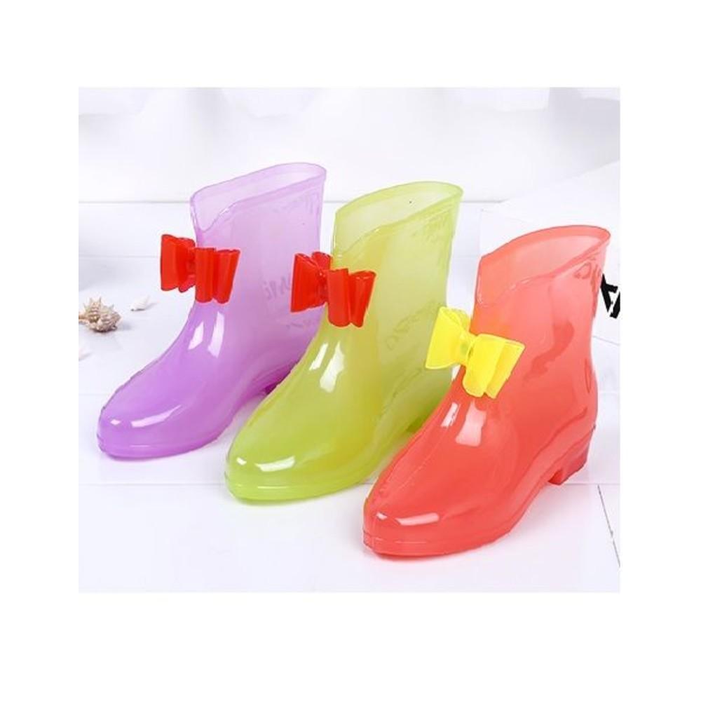 蝴蝶結果凍雨鞋 封面照片