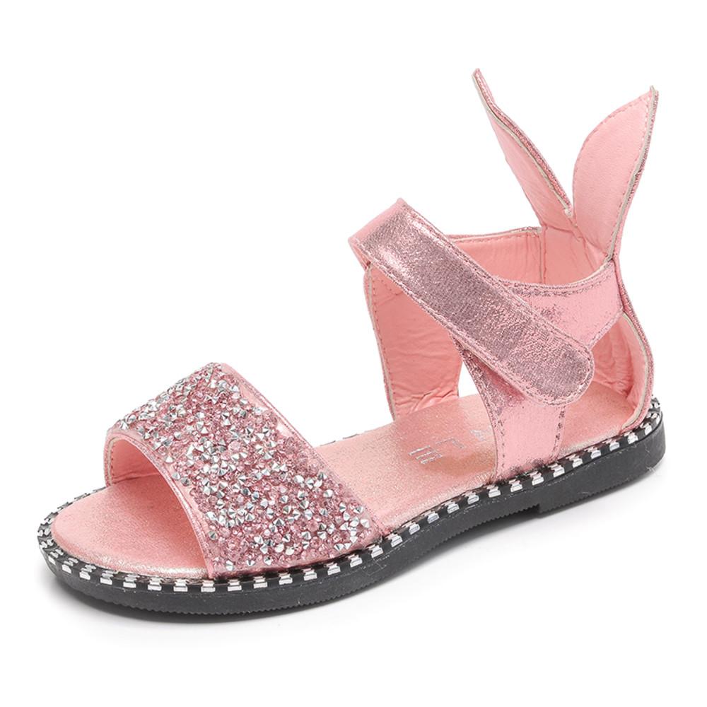 S521-韓版亮片兔子公主涼鞋