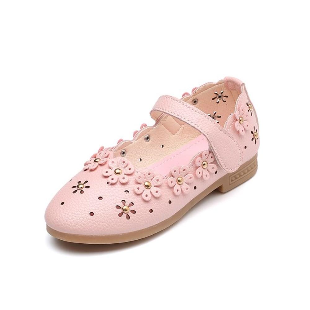 鏤空浪漫小花皮鞋