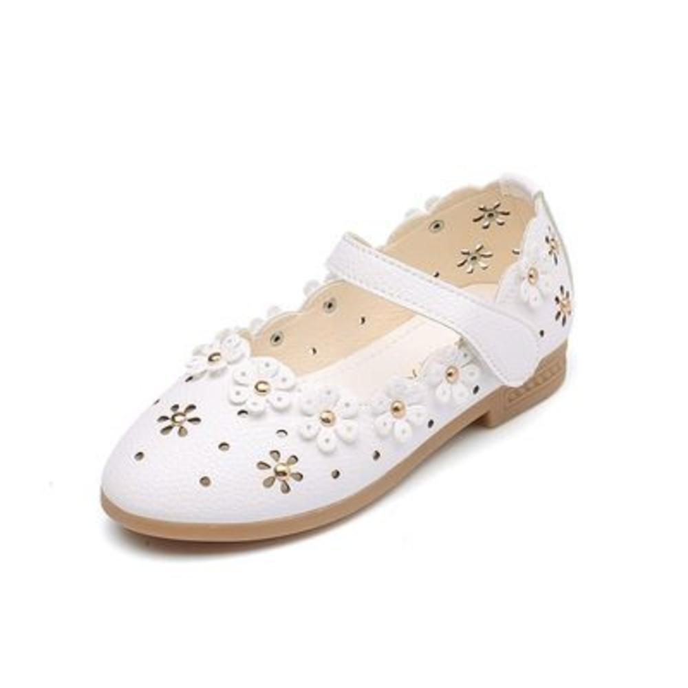 S552-鏤空浪漫小花皮鞋
