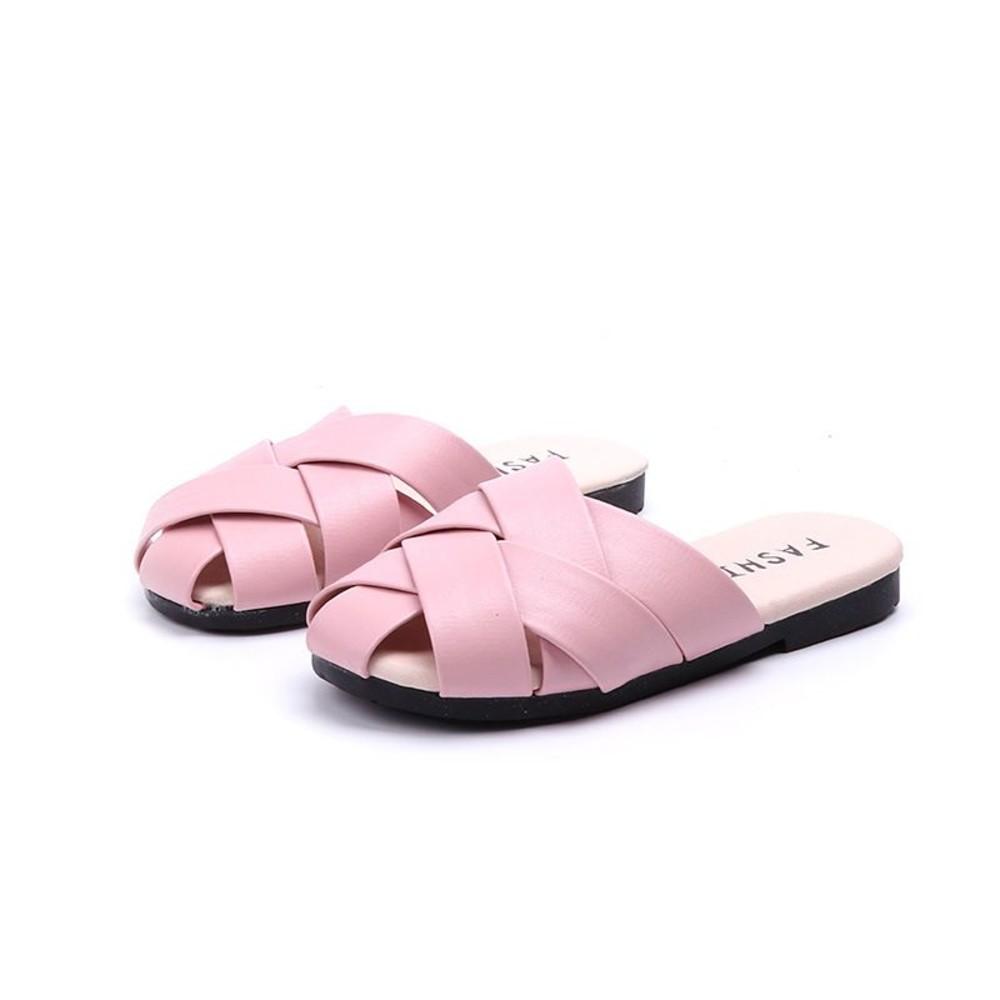 童鞋  編織包頭拖鞋