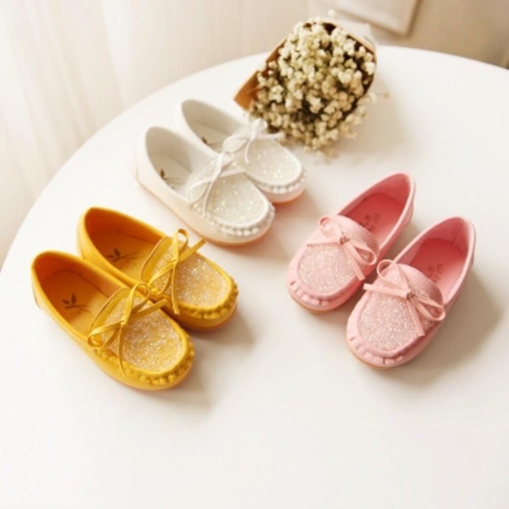 蝴蝶結水鑽豆豆鞋