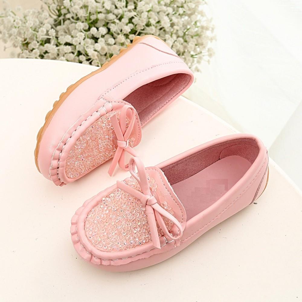 S781-蝴蝶結水鑽豆豆鞋