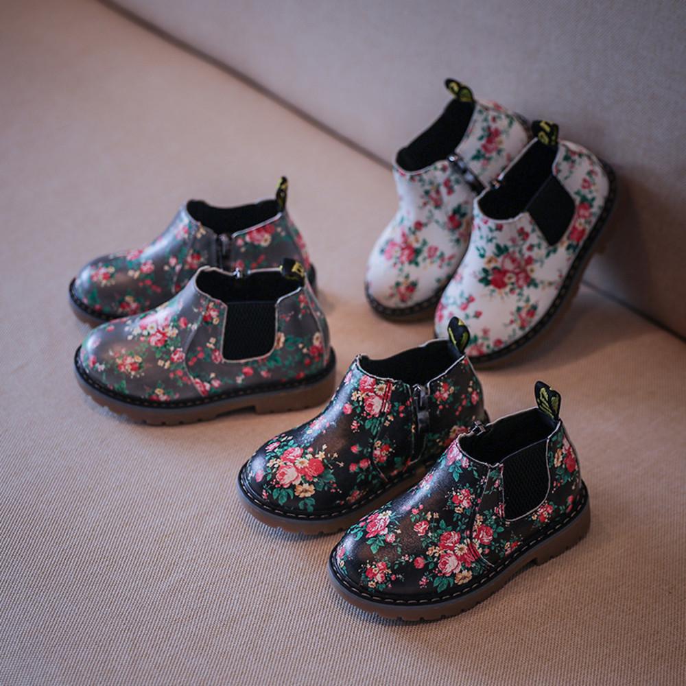 浪漫小碎花皮靴