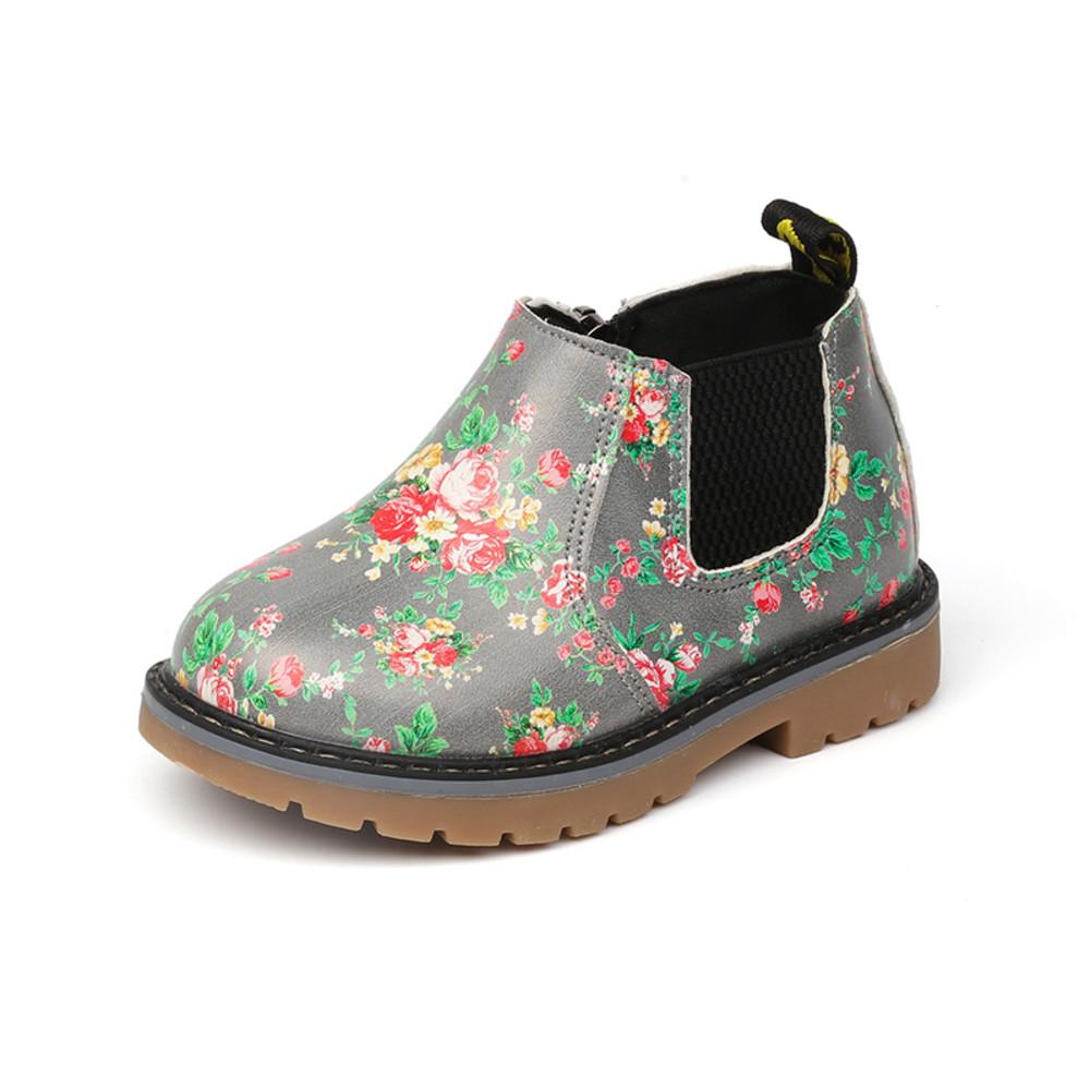 童鞋  浪漫小碎花皮靴