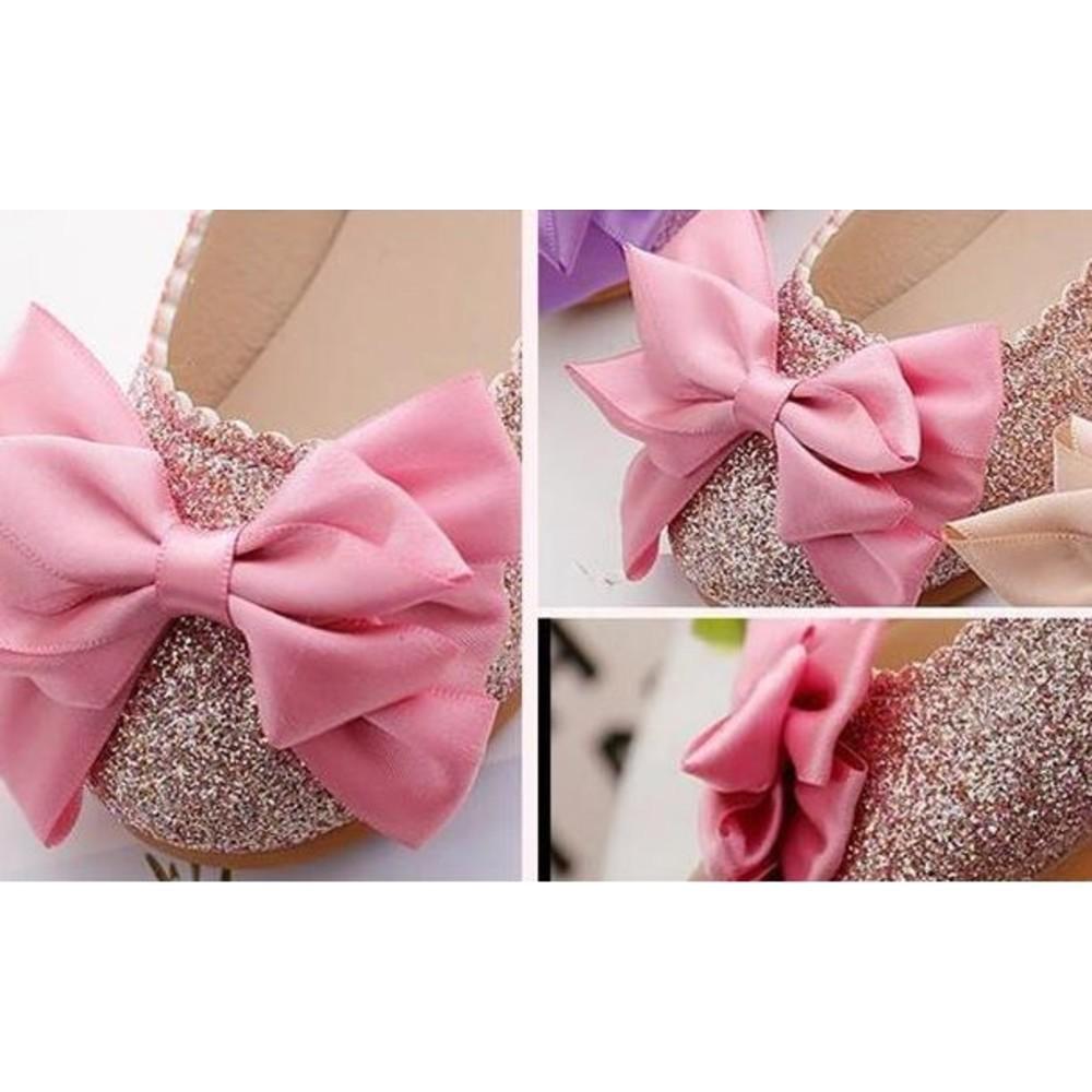 甜美蝴蝶結公主鞋