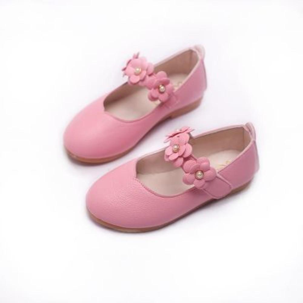 氣質小花皮鞋
