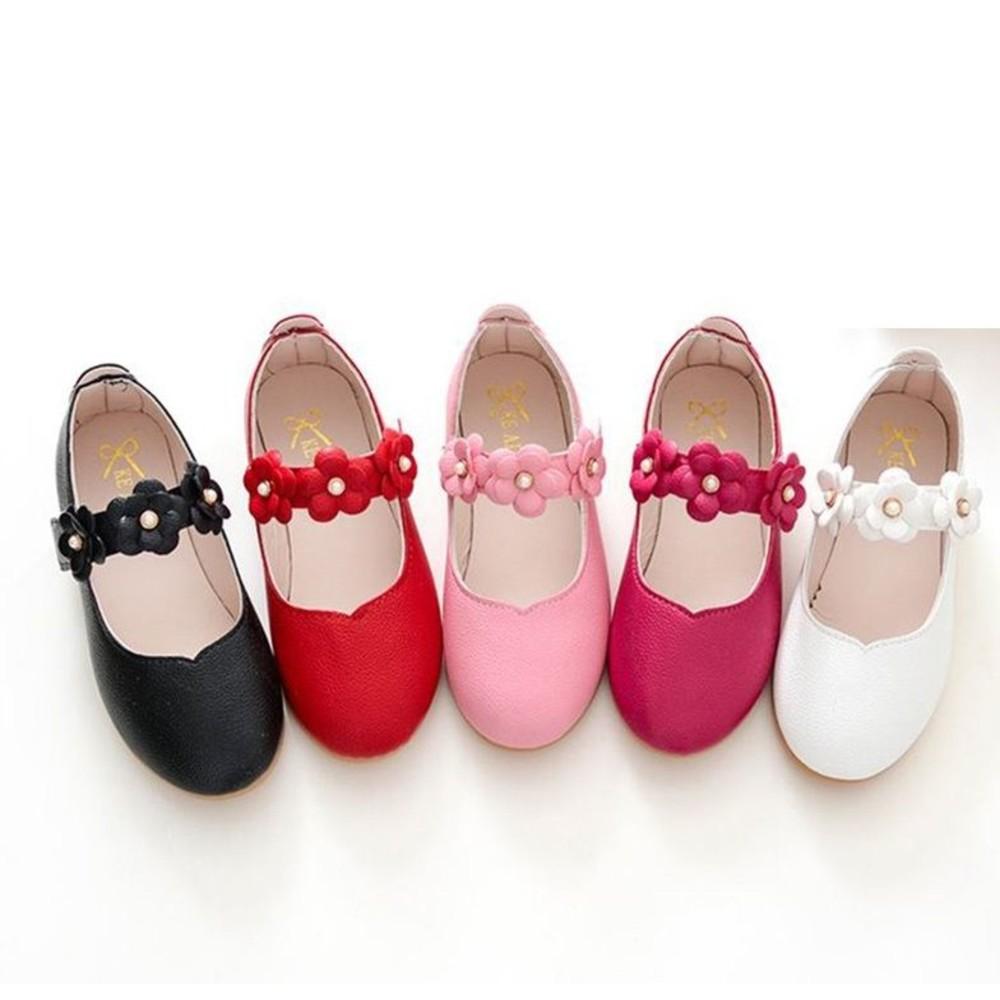童鞋 S828-氣質小花皮鞋