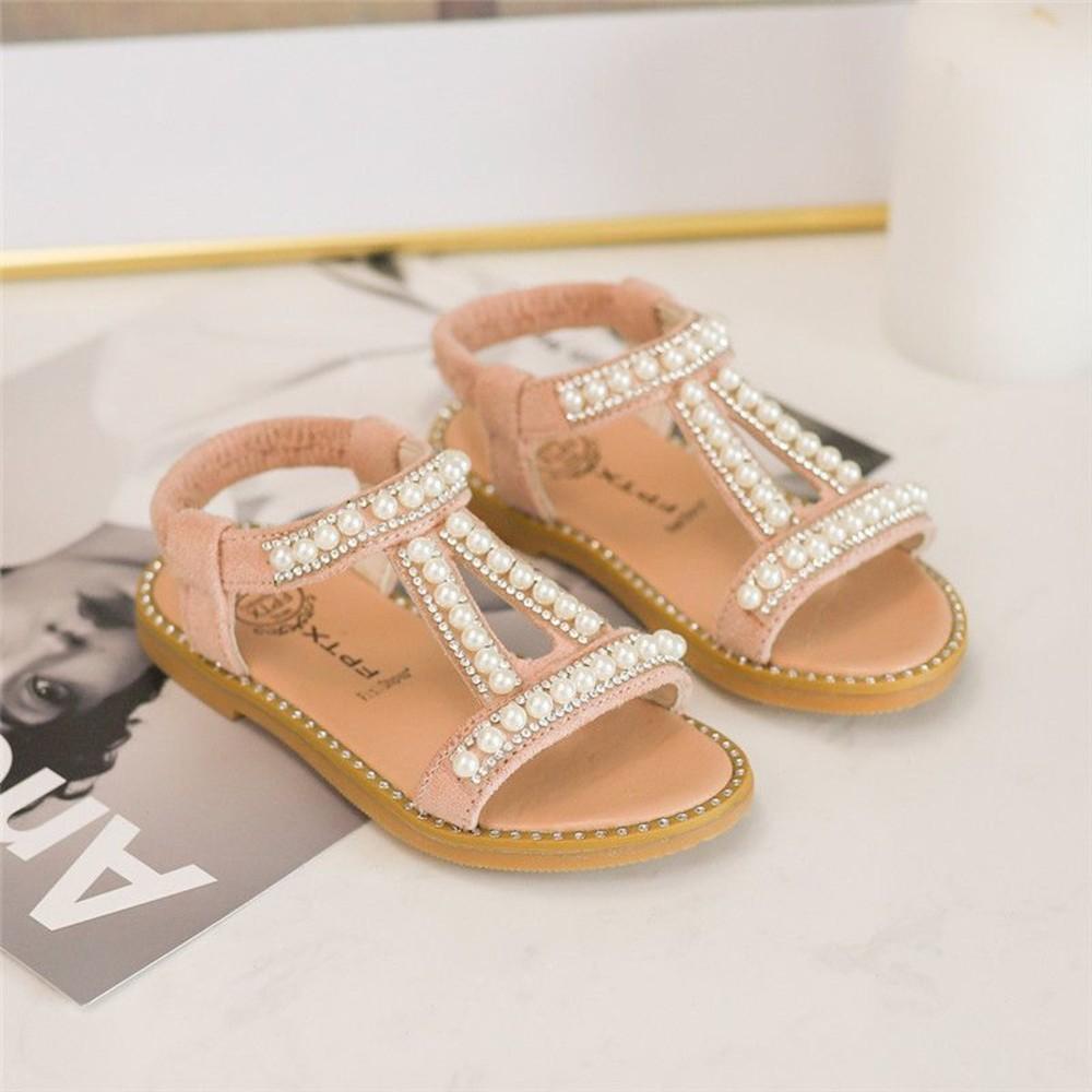 甜美珍珠涼鞋