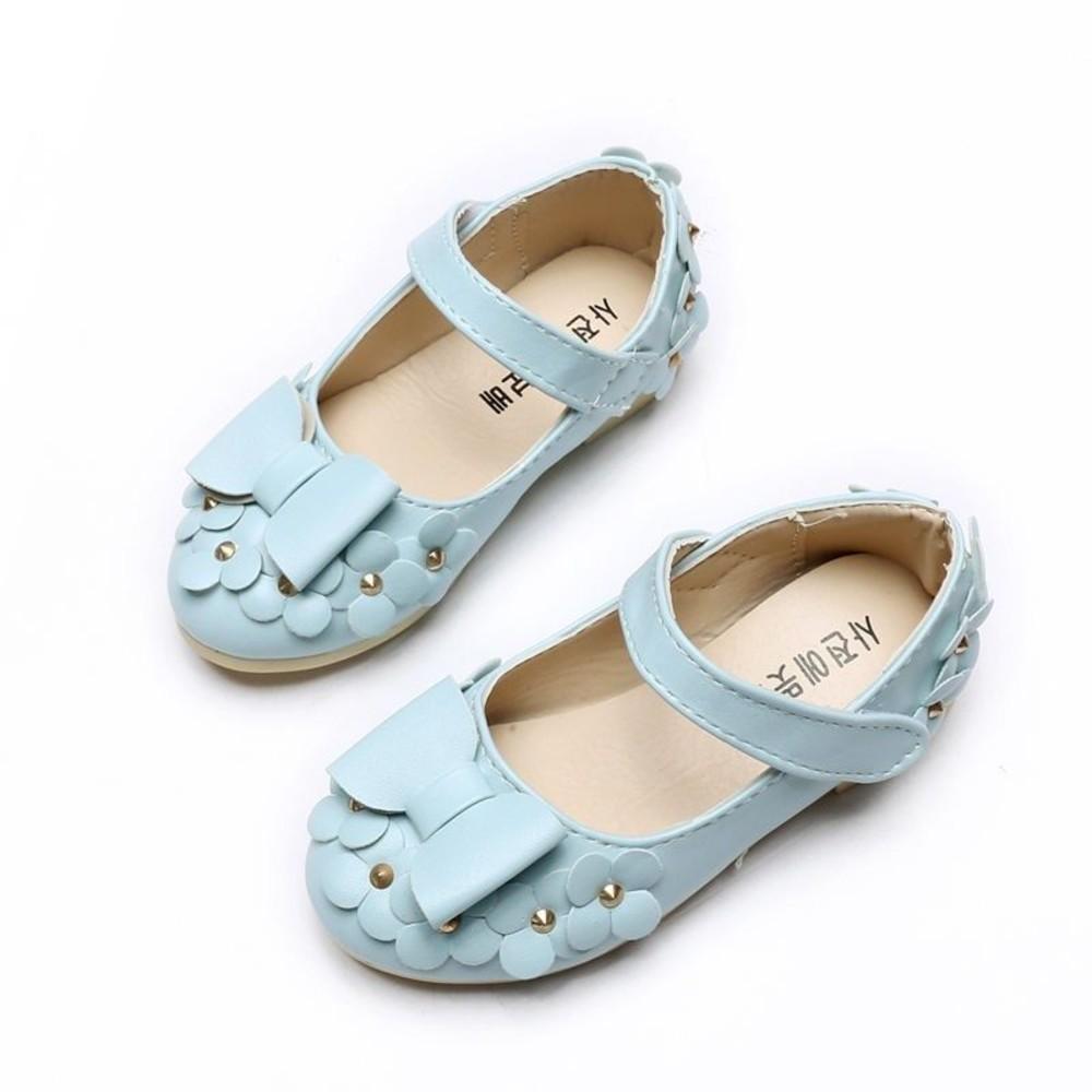 S955-蝴蝶結花朵皮鞋