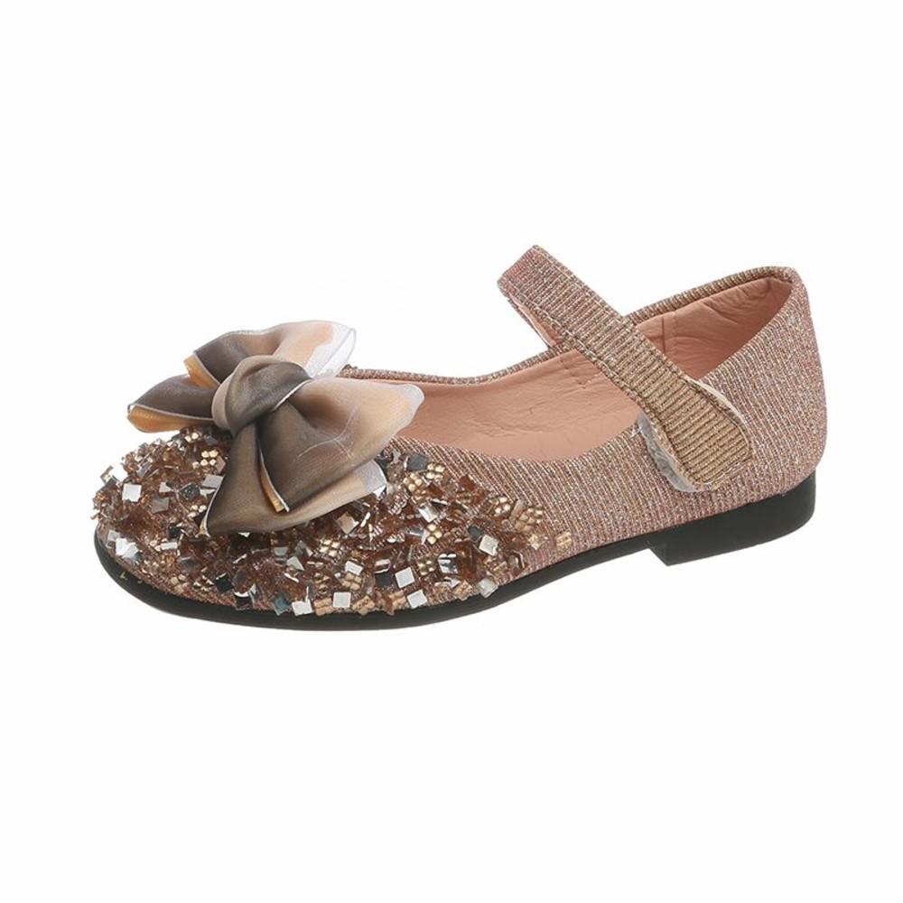 S959-蝴蝶結佐水鑽皮鞋