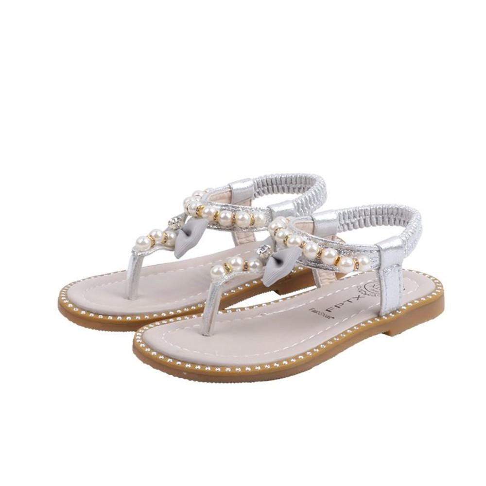 S996-珍珠水鑽公主涼鞋