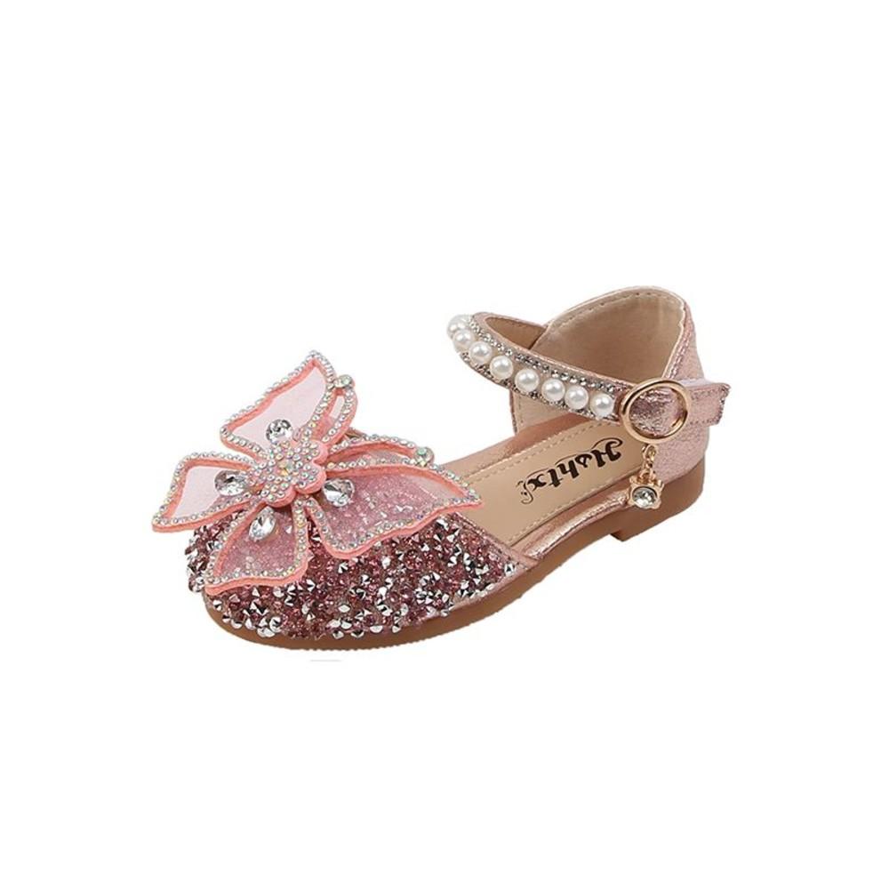 水鑽蝴蝶結涼鞋