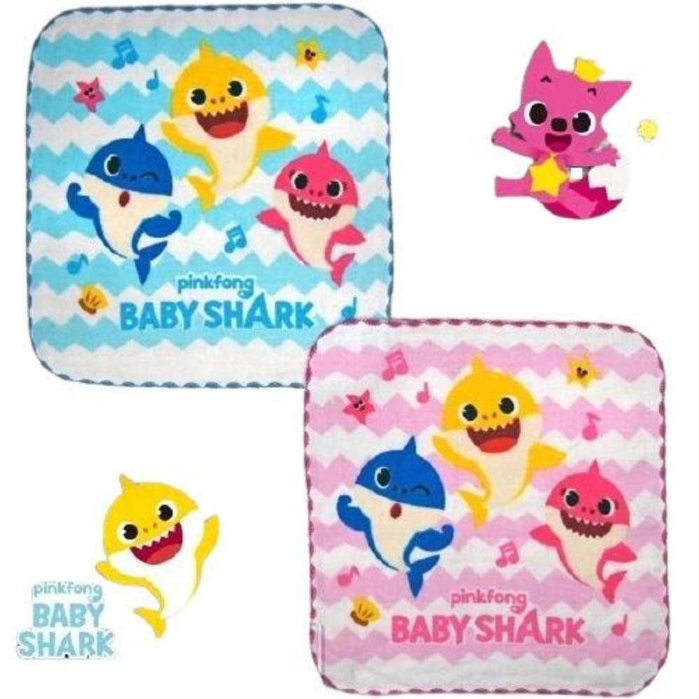 童鞋 台灣製碰碰狐鯊魚寶寶紗布方巾(1組3條)