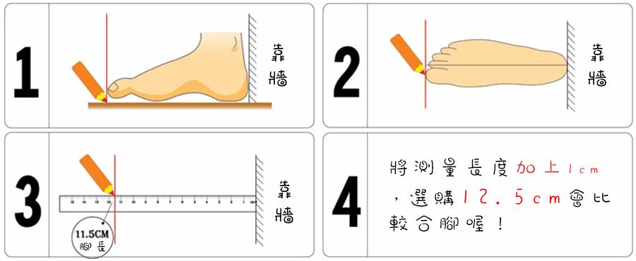 童鞋尺寸測量教學